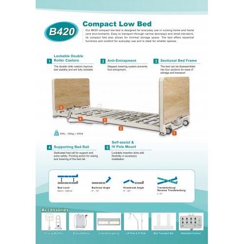 B420 COMPACT LOW BED