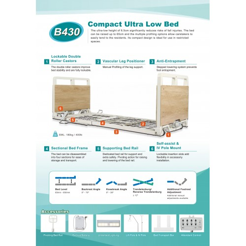 B430 COMPACT ULTRA LOW BED