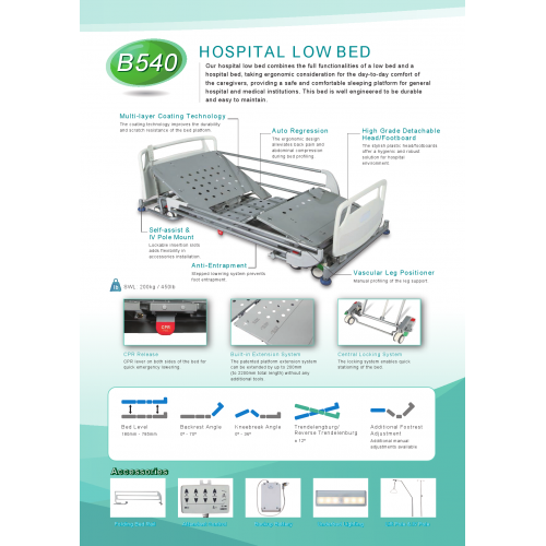 HOSPITAL LOW BED - Product Brochure