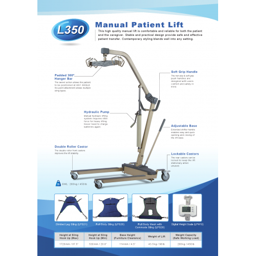 MANUAL PATIENT LIFT
