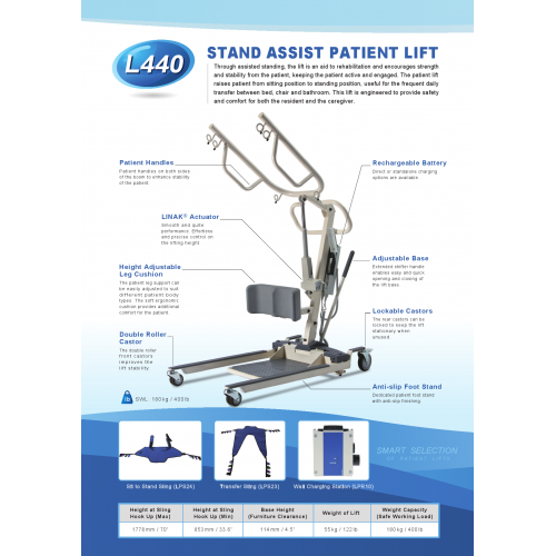 STAND ASSIST PATIENT LIFT